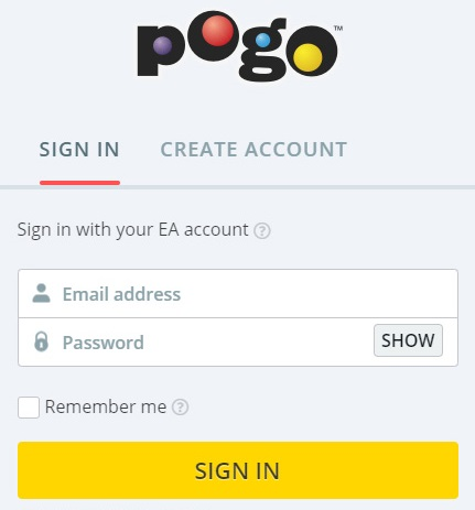 pogo sign in portal